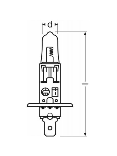 Bulb Osram Halogen H1 64152sb 100w 12v Px14 5s Fs1