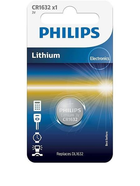 BATERIJA PHILIPS LITIJ CR1632 3V