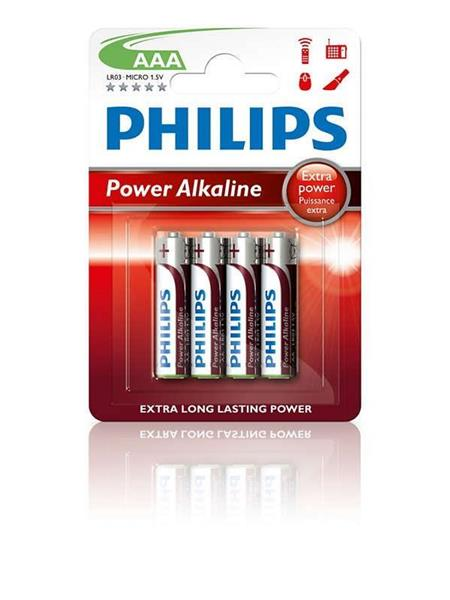 BATERIJA PHILIPS PowerLife AAA 1,5V LR03P4B/10