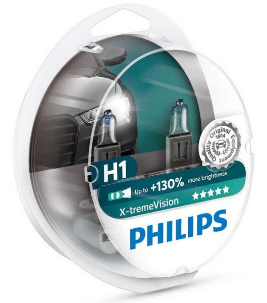 ŽARNICA PHILIPS HALOGEN H1 X-TREME VISION S2 + 130