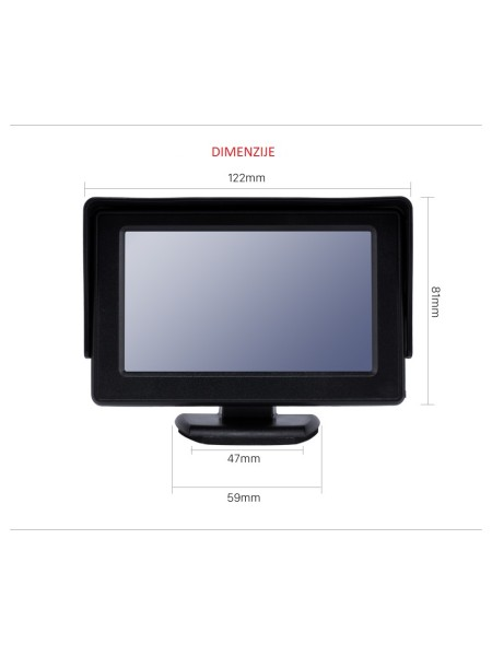 MONITOR LCD TFT WIRD743 4,3